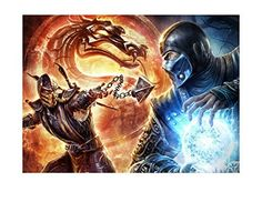 Mortal Kombat Sub Zero Scorpion Image Photo Cake Topper Sheet Birthday Party  14 Sheet  77557 -- You can get more details by clicking on the image. (This is an affiliate link) #DecoratingTools