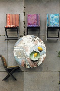 Anthropologie - Overdyed Terai Chairs (for outdoor seating). Overpriced, but cute :)
