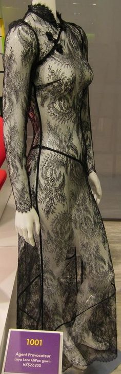 Agent Provocateur Laya Lace Qipao Gown