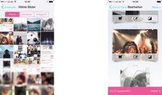 in App screen fotos drucken bilder bearbeiten facebook instagram iphone mypostcard