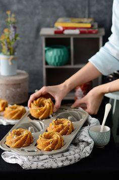 ¡Qué cosa tan dulce!: Bundt cakes {sin gluten} de manzana y zanahoria