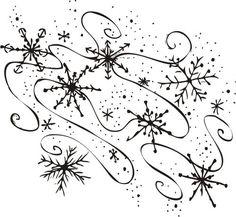 free clip art of snowflakes | Snowmen, snowflakes, Christmas trees ...