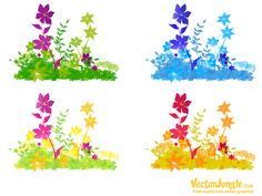 (ai file) Free Vector Art, Vector Graphics, Vector Flowers, Flower Patch, Clip Art, Map, Vectors, Brushes, Patterns