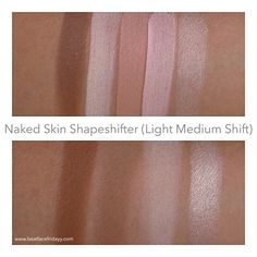 Urban Decay Naked Skin Shapeshifter Light Medium, Naked Skin Shapeshifter Medium Dark, Naked Skin Illuminizer Translucent Pressed Beauty Powder, Liquid Aura Illuminating Mix-In Medium, Velvetizer Translucent Mix-In Medium Swatches (Sneak Peek) – beatfacefridayy