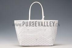 Goyard St Louis Tote White Replica Goyard Bags