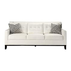 reina white leather sofa 55875 rub liked on polyvore featuring home furniture - White Leather Sofa