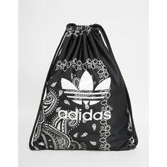 adidas Originals Paisley Print Drawstring Backpack ($27) ❤ liked on Polyvore featuring bags, backpacks, paisley, polyester drawstring backpack, drawstring backpack bags, polyester backpack, rucksack bag and paisley print backpacks