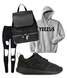 """""""Untitled #476"""" by heden-fun ❤ liked on Polyvore featuring NIKE and COSTUME NATIONAL"""