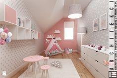 Ruda śląska - zabudowa szeregowa - Średni pokój dziecka dla dziewczynki dla malucha, styl skandynawski - zdjęcie od More IN