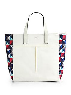 Anya Hindmarch - Geometric Printed Canvas Tote