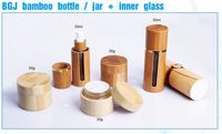 Source BGJ bamboo bottle/jar with inner glass cosmetic packaging 30ml 50ml pump bamboo glass bottle on m.alibaba.com