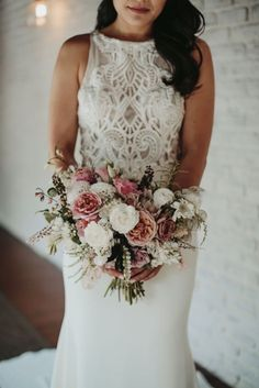 Glamorous & Stylish Wedding by Katie Branch Photography and Jen Kruger Design
