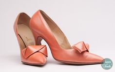 Vintage Peach High Heel Shoes by Accent from BloomersAndFrocks, $28.00