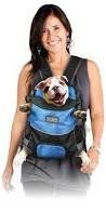 """Outward Hound Front Carrier Small Blue 13"""" x 10"""" x 8"""" by Kyjen - http://www.thepuppy.org/outward-hound-front-carrier-small-blue-13-x-10-x-8-by-kyjen/"""