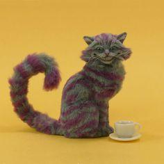 Miniature 1:12 Cheshire Cat sculpture by Pajutee.deviantart.com on @deviantART