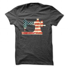 Sewing USA Flag T Shirts, Hoodie. Shopping Online Now ==► https://www.sunfrog.com/Funny/Worn-USA-Flag_grande-DarkGrey-Guys.html?41382