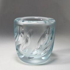 vicke lindstrand orrefors cut satinated vase 2975