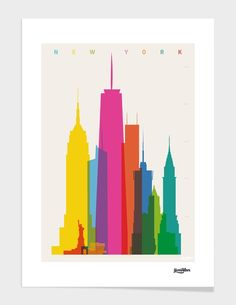 "Curioos.com | ""Shapes of NYC"" by yoni alter - Gallery Quality Art Print"