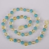 Turquoise & Champagne Amber Necklaces Starting from $30