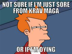 This is how some people feel the day after a Krav Maga class!  Mada Krav Maga in Shelby Township, MI teaches realistic hand to hand combat that uses the quickest methods to attack the weakest and most vital targets of both armed and unarmed assailants! Visit our website www.madakravmaga.com or call (586) 745-1171 for more details!