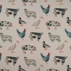 Save on our Linen On the Farm Clarke Contemporary Fabric. This Clearance fabric is perfect for Curtains, Blinds & Upholstery. Botanical Illustration, Illustration Art, Illustrations, Childrens Curtains, Clarke And Clarke Fabric, Farm Boys, Watercolor Effects, Watercolour, Dog Wallpaper