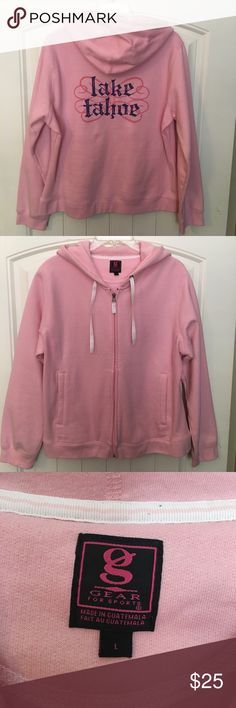 Lake Tahoe Women's Pink Hooded Jacket with Pockets This is a Gear Sports nice and warm jacket with full zipper, hood and pockets.   It's nice and thick for added warmth and has only been worn one time. No signs of wear at all. Gear Sports Jackets & Coats