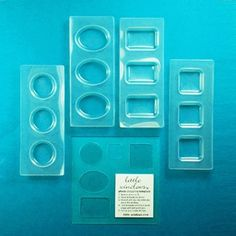 Medium Resin Mold Set  with cropping template
