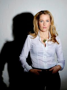 """qilliananderson: """"Gillian Anderson by Clara Molden """" Gillian Anderson, Mary Louise Parker, White Shirts, White Blouses, Sexy Older Women, Celebs, Celebrities, Beautiful People, Beautiful Females"""