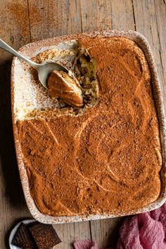 The easiest and most delicious Tiramisu recipe! This authentic Italian dessert is rich and creamy but as light as air made with coffee dunked Savoiardi (ladyfingers), a smooth and creamy mascarpone filling and dusted with cacao powder to finish it off. Perfect for any occasion! Authentic Italian Tiramisu Recipe, Best Tiramisu Recipe, Authentic Italian Desserts, Italian Recipes, Italian Dishes, Just Desserts, Delicious Desserts, Dessert Recipes, Cake Recipes