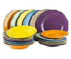 Servizio di piatti in gres Duchessa - 18 pz