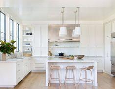 another all white kitchen. An Interior Designer Explains Why the All-White Kitchen Is Still Crazy Popular All White Kitchen, New Kitchen, Kitchen Decor, Kitchen Ideas, Stylish Kitchen, Kitchen Modern, Kitchen Layout, Kitchen Inspiration, Rustic Kitchen