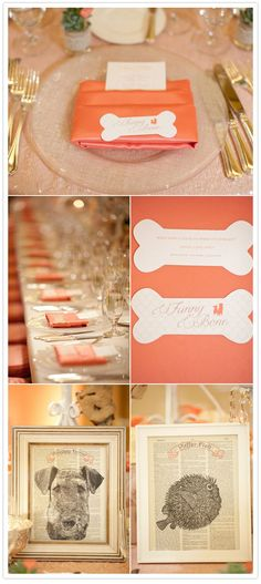 love this idea: guests rsvp-ed with their favorite joke. the bride and groom picked their ten favorites and left one on each place setting. guests could share the jokes as an ice breaker.