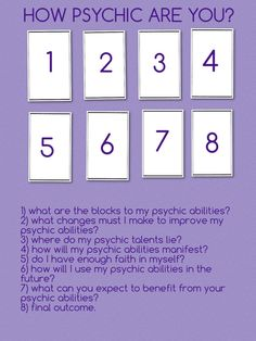 How Psychic are You?                                                                                                                                                      More
