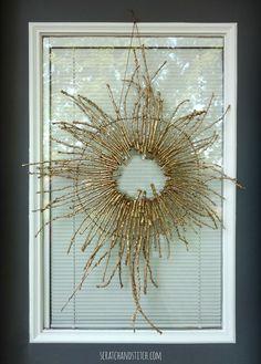 Sunburst Twig Wreath by scratchandstitch.com