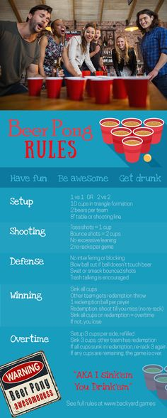 ab61f792 Beer Pong Rules: Simple instructions for the most popular drinking game of  them all!