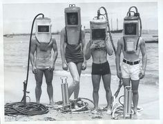 Old school diving suit