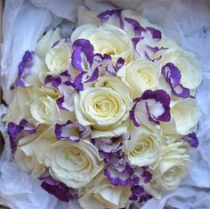 Wedding Flowers Blog: Cery's Wedding Flowers- Purple and White
