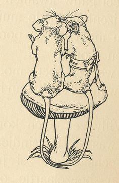 Illustration by L.W.R. Wenckebach for In De Muizenwereld by Agatha Snellen (Netherlands, 1894)