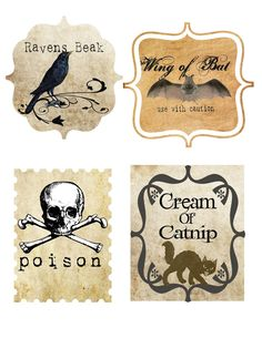 Vintage Halloween Labels Printable | HALLOWEEN FREEBIE DOWNLOAD!!! Printable Vintage Style Lables
