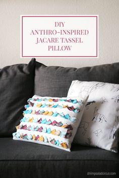 DIY Anthropologie Tassel Pillow Knockoff