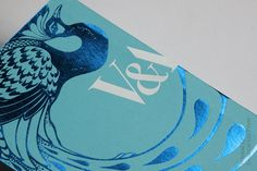 Foil blocked V invitations printed / finished by generation press.