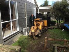 Tight spaces, close to the house. Not a problem for Stump Busters the Stump grinding Specialists. Grinding, Shed, Outdoor Structures, Patio, Spaces, Outdoor Decor, House, Home, Ribbons