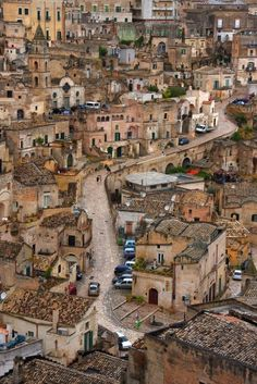 Sassi di Matera, Italy. One of the oldest still-inhabited cities in the world, known for its many cave dwellings.