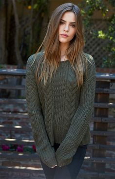 Cable Knit Sweater small