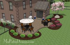 Curvy Patio Design | Patio Plans and Ideas | MyPatioDesign.com