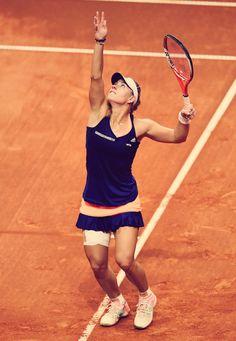 Angelique Kerber // Porsche Tennis Grand Prix 2015 #WTA #Kerber #PTGP Wta Tennis, Lawn Tennis, Sport Tennis, Tennis Racket, Tennis Clothes, Tennis Outfits, Maria Sharapova, Angie Kerber, Angelique Kerber