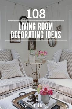108 Living Room Decorating Ideas | What ever your style–we've got the decorating tips and ideas for your beautiful living room, beautiful family room, or your beautiful den. One thing is for sure, you'll be inspired by all of these chic decorating ideas. #decorideas #homedecor #southernliving