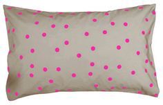 Love the bright spots on this printed cushion