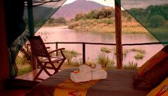 View from the tent at Chongwe River Camp