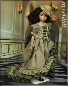 Handmade outfit for Ellowyne Wilde 16  Tonner Doll Auction includes: Dress Stockings Smoke free home. PayPal only waiting 5 days of auction end please. Doll, Shoes and diorama Accessories are not for